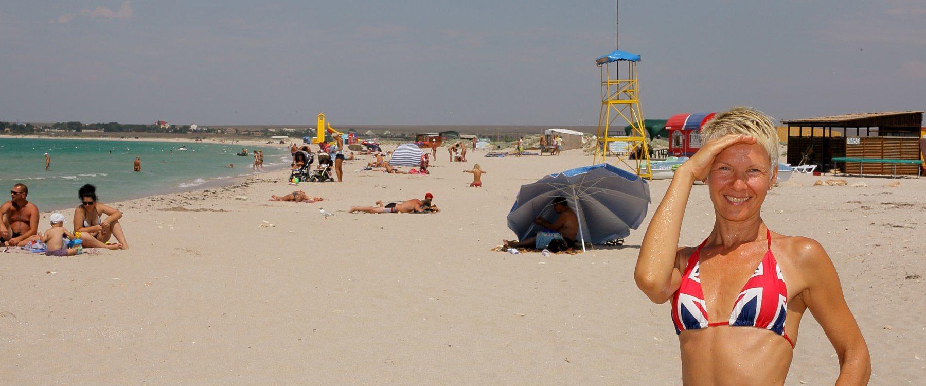 Песчанный пляж в оленевке